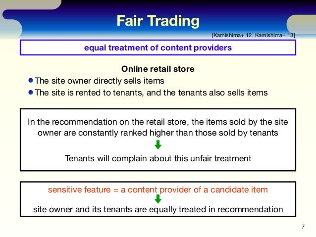 In the recommendation on the retail store, the items sold by the site owner are constantly ranked higher than those sold b...