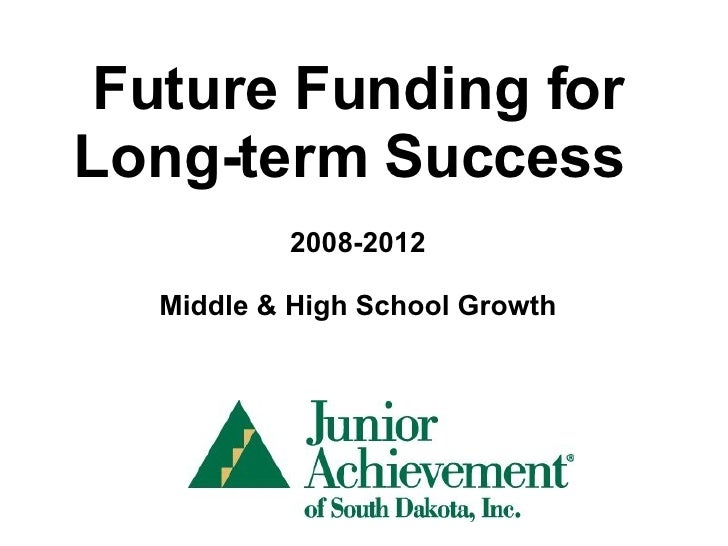 Future Funding for Long-term Success  2008-2012 Middle & High School Growth