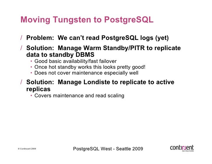 Implementing the Future of PostgreSQL Clustering with Tungsten