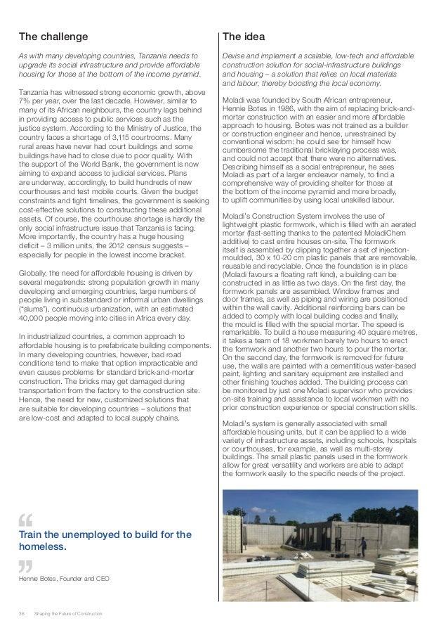 Future of construction World Economic Forum moladi Slide 2