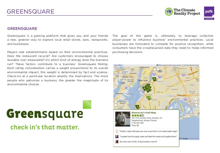 GREENSQUARELeaderboards and infographics display and compare player                 This real-world game is digitally mana...