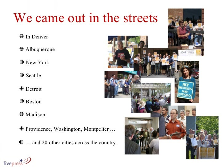 We came out in the streets <ul><li>…  and 20 other cities across the country. </li></ul><ul><li>In Denver </li></ul><ul><l...