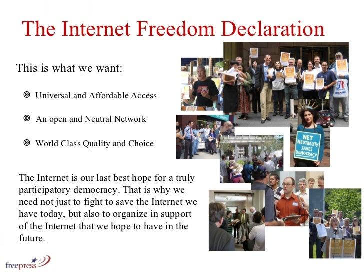This is what we want: <ul><li>Universal and Affordable Access </li></ul><ul><li>An open and Neutral Network </li></ul><ul>...