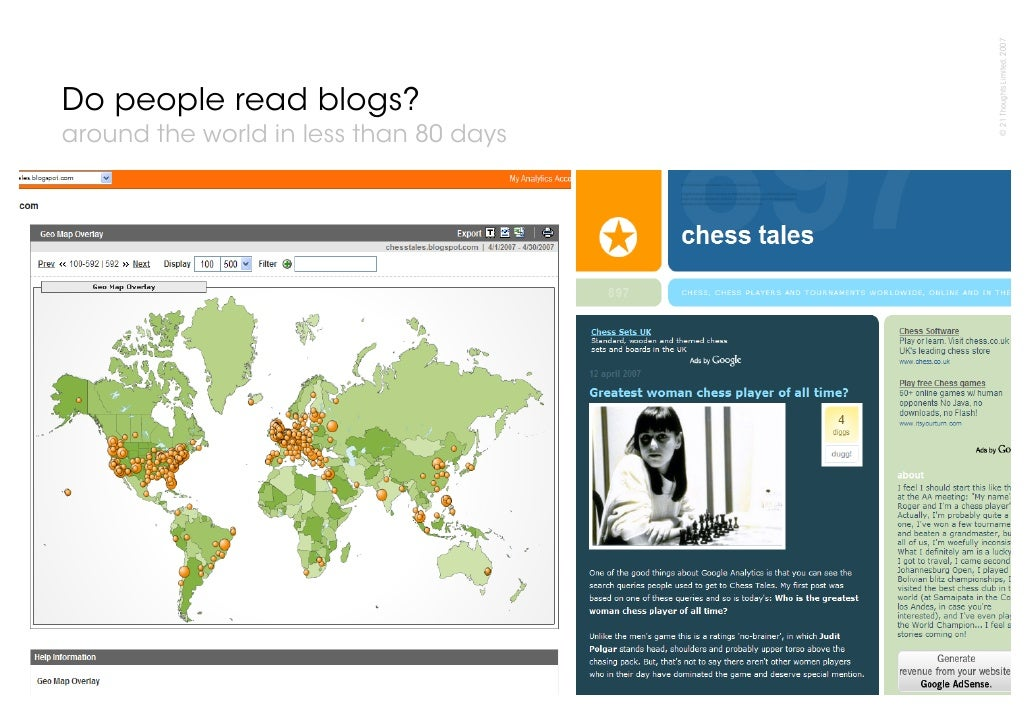 © 21 Thoughts Limited, 2007 Do people read blogs? around the world in less than 80 days