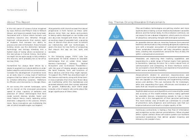 PSFK Future Of Wearable Tech Report Slide 2