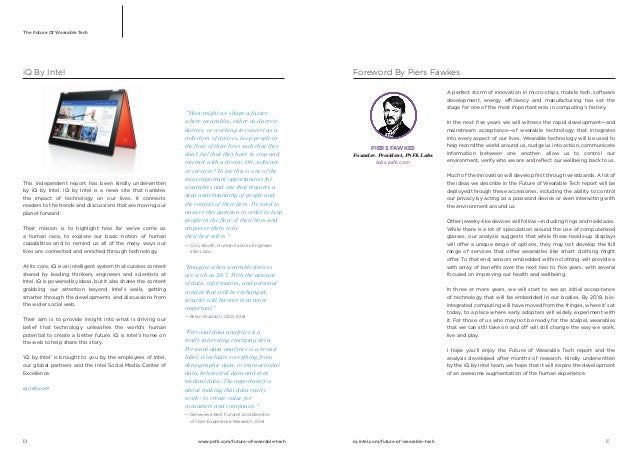 PSFK Future Of Wearable Tech Report Slide 3
