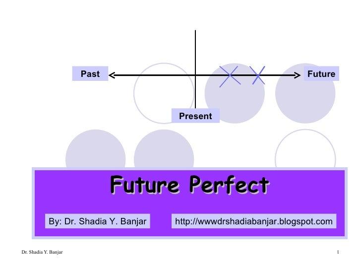 Future Perfect Present Past Future By: Dr. Shadia Y. Banjar http://wwwdrshadiabanjar.blogspot.com