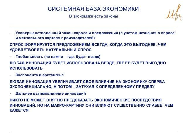 - Усовершенствованный закон спроса и предложения (с учетом незнания о спросе и ментального картеля производителей) СПРОС Ф...