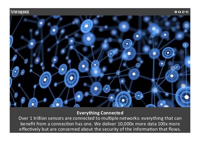 EverythingConnected Over1trillionsensorsareconnectedtomul0plenetworks:everythingthatcan benefitfromaconne...