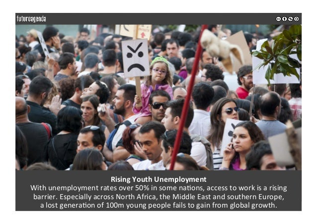 RisingYouthUnemployment Withunemploymentratesover50%insomena0ons,accesstoworkisarising barrier.Especial...