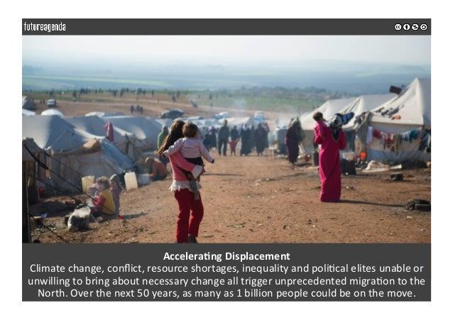 AcceleraOngDisplacement Climatechange,conflict,resourceshortages,inequalityandpoli0calelitesunableor unwilling...