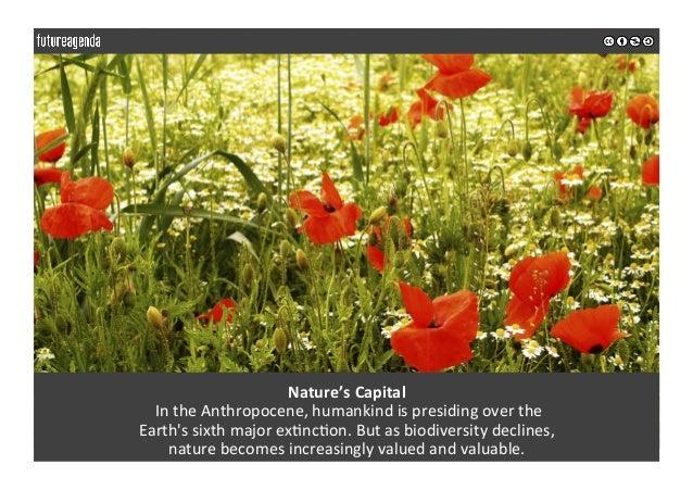 Nature'sCapital IntheAnthropocene,humankindispresidingoverthe Earth'ssixthmajorex0nc0on.Butasbiodiversit...