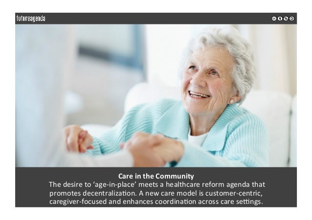 CareintheCommunity Thedesireto'age-in-place'meetsahealthcarereformagendathat promotesdecentraliza0on.An...
