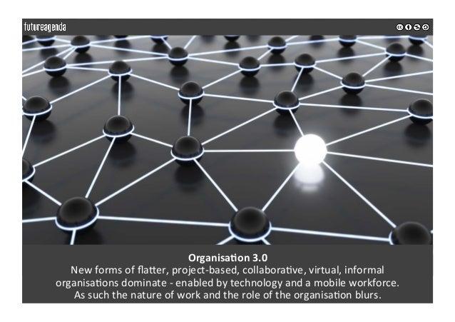 OrganisaOon3.0 NewformsofflaIer,project-based,collabora0ve,virtual,informal organisa0onsdominate-enabledby...