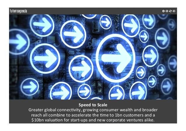 SpeedtoScale Greaterglobalconnec0vity,growingconsumerwealthandbroader reachallcombinetoacceleratethe0me...