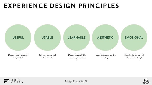 Experience design principles does it for Household experience design
