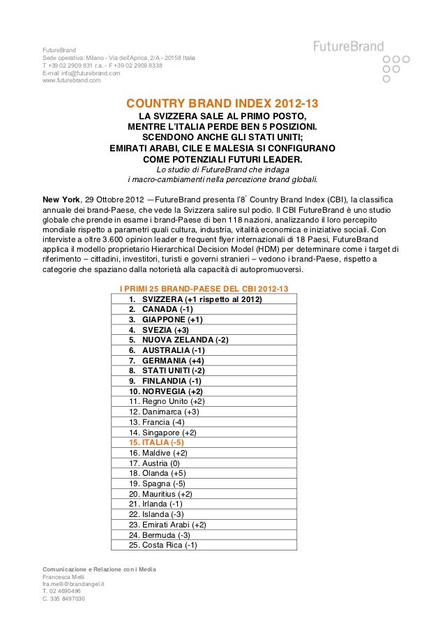 FutureBrandSede operativa: Milano - Via dell'Aprica, 2/A - 20158 ItaliaT +39 02 2909 831 r.a. - F +39 02 2909 8338E-mail ...