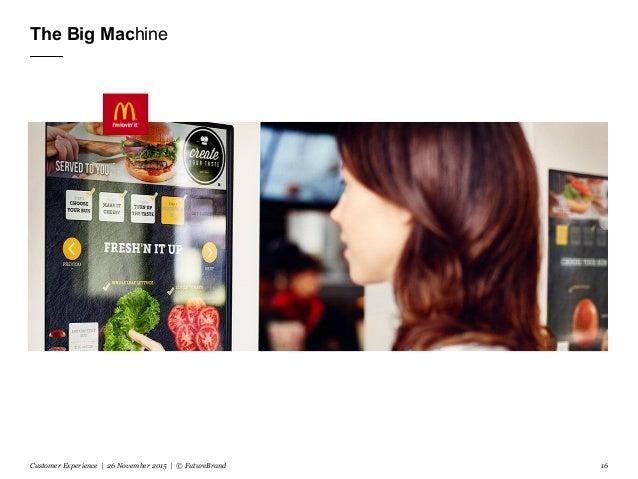 The Big Machine Customer Experience | 26 November 2015 | © FutureBrand 16