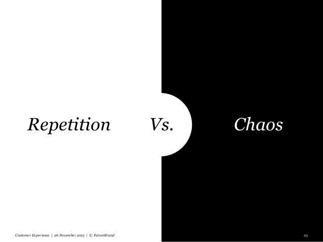 Customer Experience | 26 November 2015 | © FutureBrand 23 Vs.Repetition Chaos