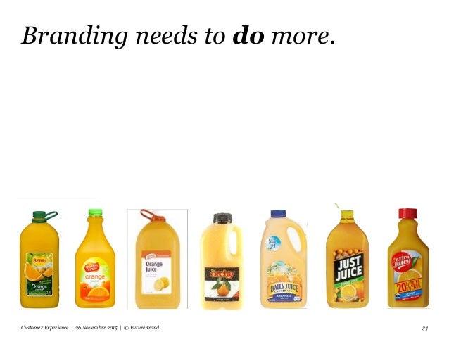 Branding needs to do more. Customer Experience | 26 November 2015 | © FutureBrand 34