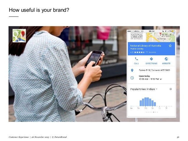 How useful is your brand? Customer Experience | 26 November 2015 | © FutureBrand 36