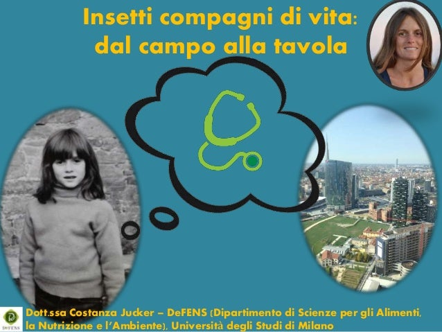 Insetti compagni di vita: dal campo alla tavola Dott.ssa Costanza Jucker – DeFENS (Dipartimento di Scienze per gli Aliment...