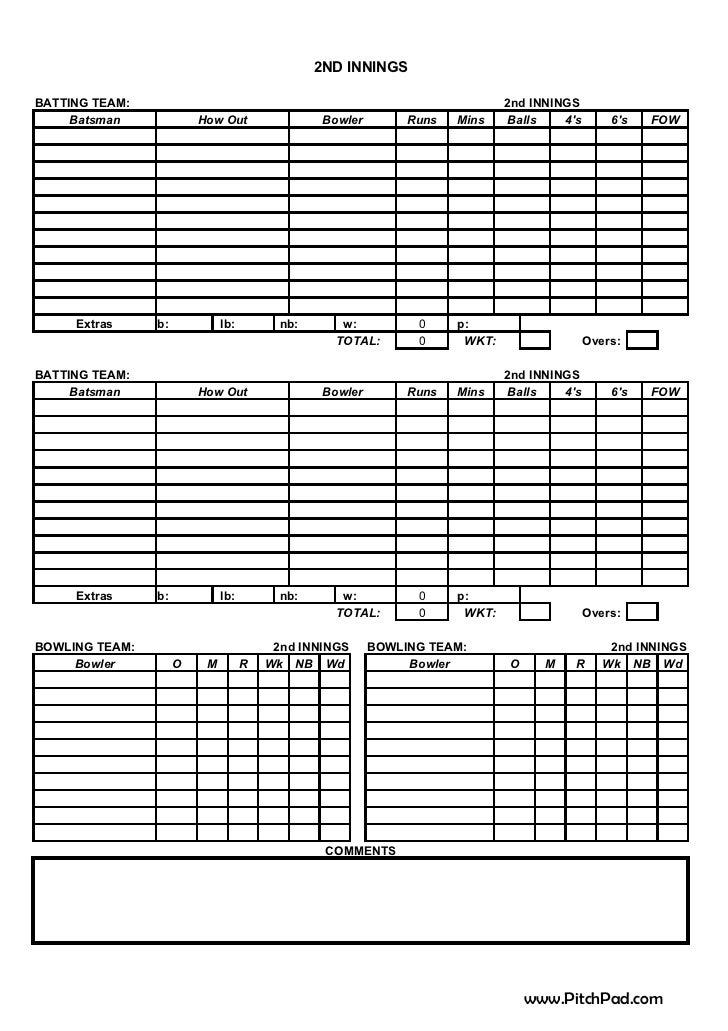 Future champs vs ax supply frias bay cricket score sheet – Cricket Score Sheet