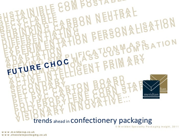 trends ahead in confectionery packaging                                                              © M e r id ia n S p e...