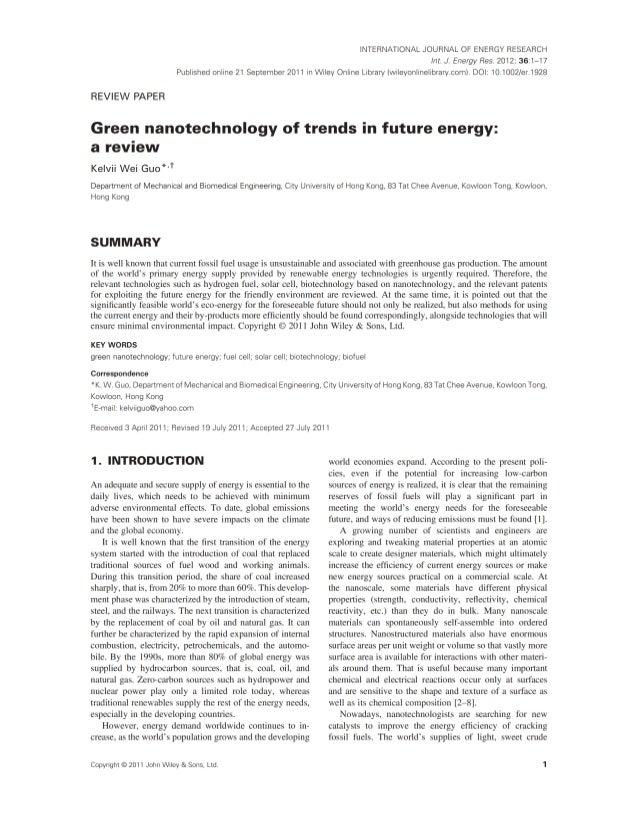 Future energy generation