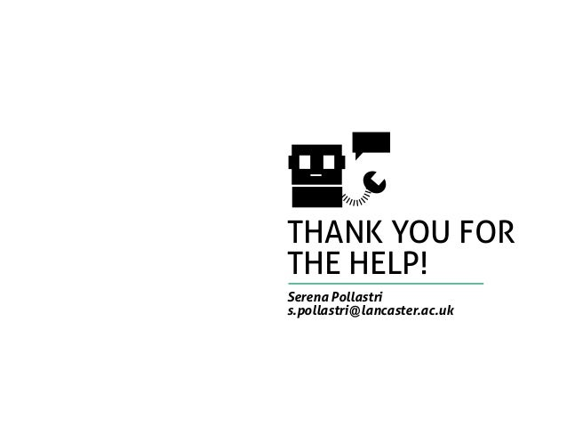 thank you for the help! Serena Pollastri s.pollastri@lancaster.ac.uk