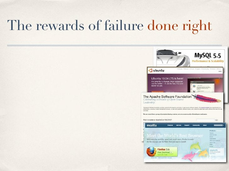 The rewards of failure done right