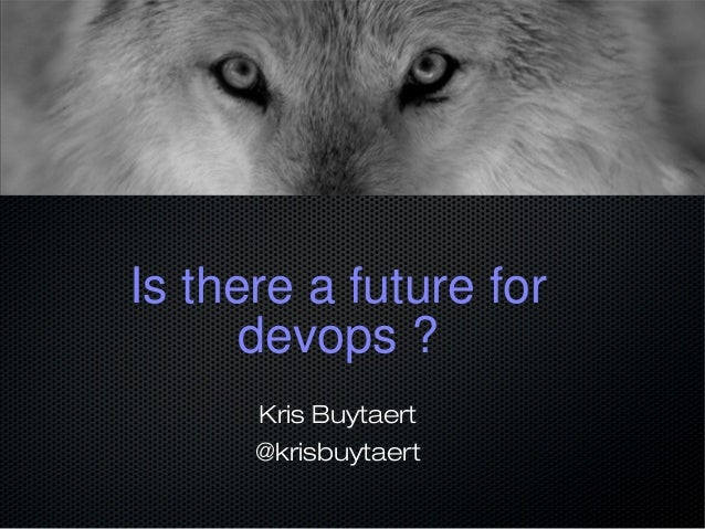 Is there a future for devops ? Kris Buytaert @krisbuytaert