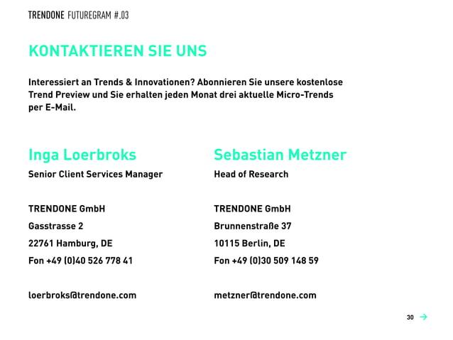 OPPORTUNITY OUTLOOK IDEEN ZUM MITNEHMEN →30 →