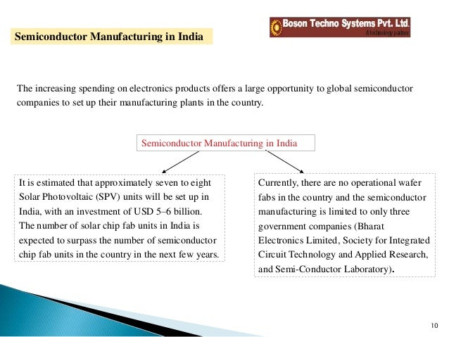 Future & growth of semiconductor industry In india