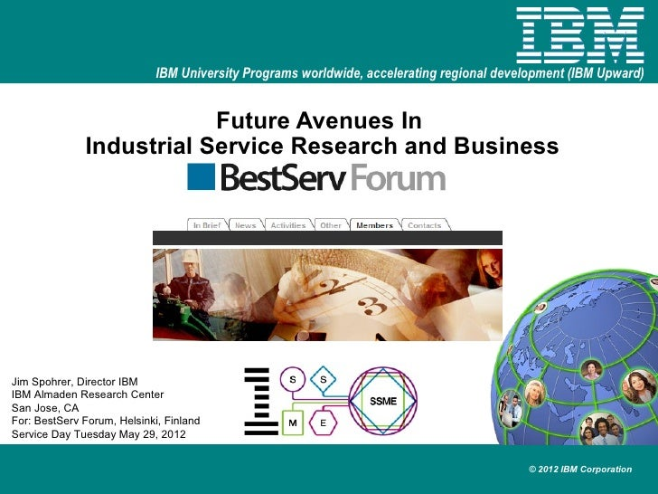 IBM University Programs worldwide, accelerating regional development (IBM Upward)                          Future Avenues ...