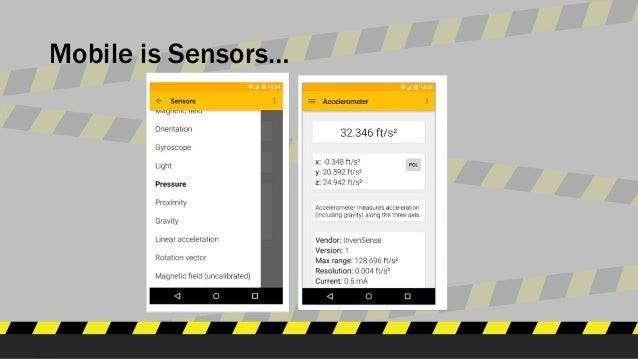 Mobile is Sensors…