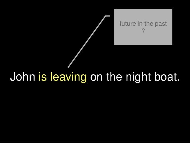 John is leaving on the night boat. future in the past ?