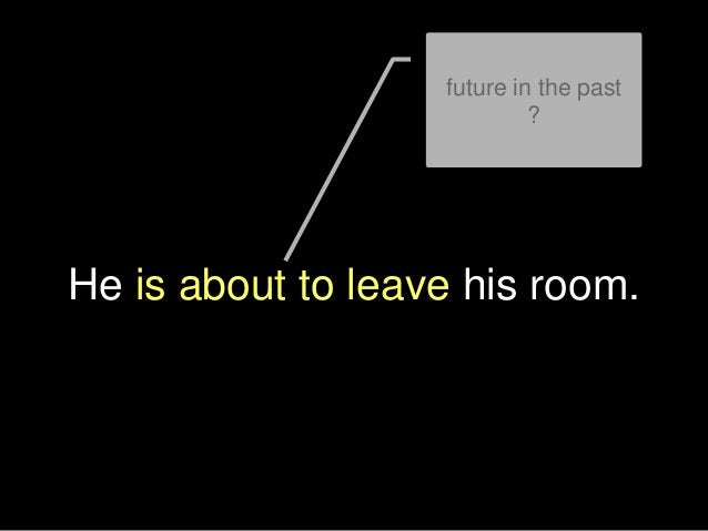 He is about to leave his room. future in the past ?
