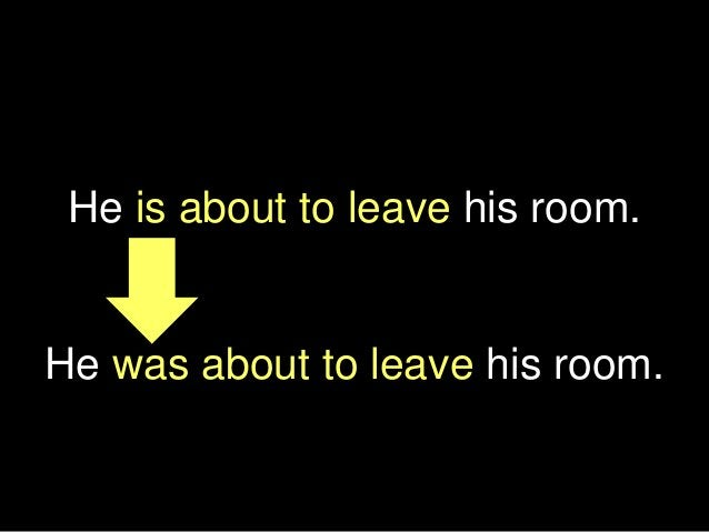 He is about to leave his room. He was about to leave his room.