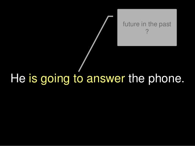 He is going to answer the phone. future in the past ?
