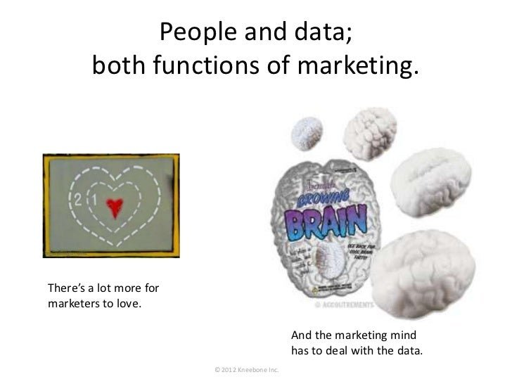 People and data;        both functions of marketing.There's a lot more formarketers to love.                         And t...