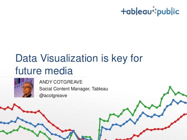 Data Visualization is key for  future media  ANDY COTGREAVE  Social Content Manager, Tableau  @acotgreave