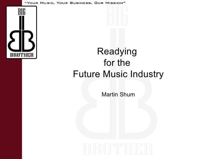 Martin Shum Readying  for the  Future Music Industry