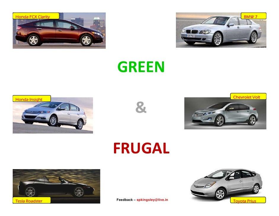 Honda FCX Clarity                                        BMW 7                         GREEN                              ...