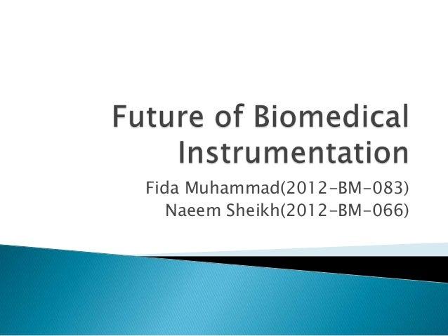 Fida Muhammad(2012-BM-083) Naeem Sheikh(2012-BM-066)
