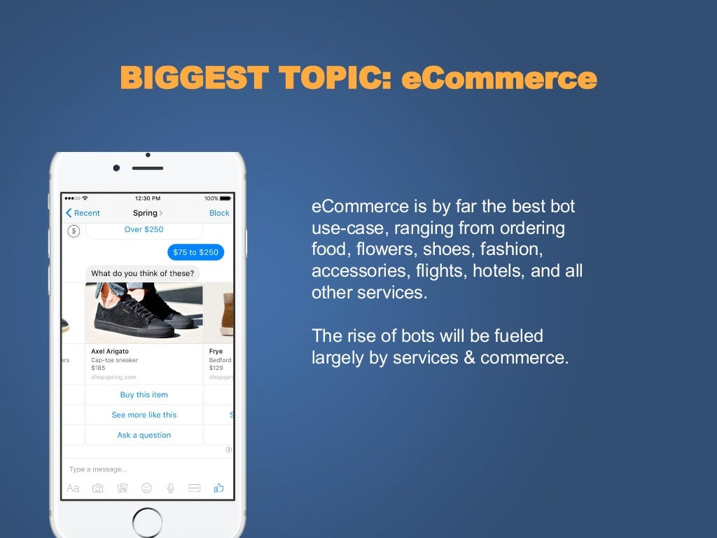 BIGGEST TOPIC: eCommerce eCommerce is
