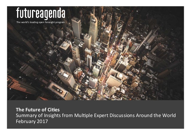 The  Future  of  Ci-es     Summary  of  Insights  from  Mul3ple  Expert  Discussions  Around  t...