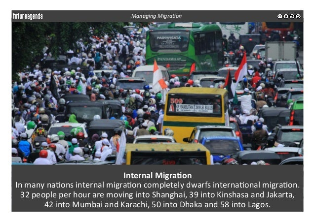 Internal  Migra-on   In  many  na3ons  internal  migra3on  completely  dwarfs  interna3onal  migra3on....