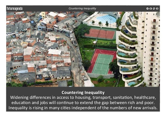 Countering  Inequality   Widening  differences  in  access  to  housing,  transport,  sanita3on,  healt...