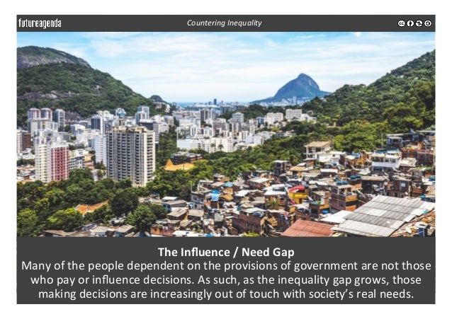 The  Influence  /  Need  Gap     Many  of  the  people  dependent  on  the  provisions  of  g...